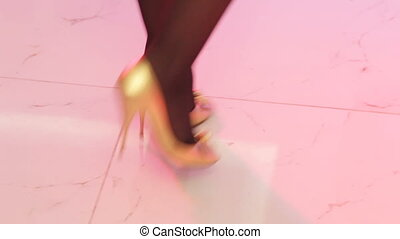 Dancing feet on banket - Dancing feet teen at the children's...