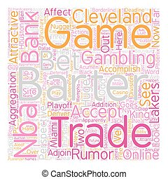 NBA Barter Deadline Bank Perspective text background wordcloud concept