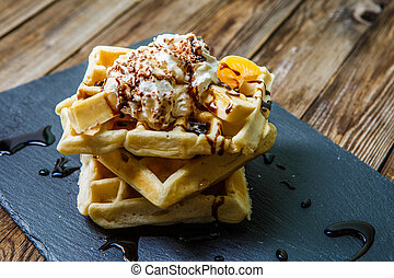 Photo of several Viennese waffles - Photo of Viennese...