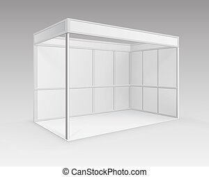 White Blank Indoor Trade exhibition Booth Stand
