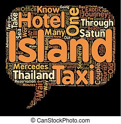 Night in Satun Adventures in Southern Thailand text background wordcloud concept