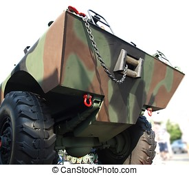 Amphibious Military Vehicle - An army rescue vehicle that...