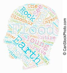 Noah s Flood text background wordcloud concept