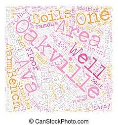 Oakville AVA txt text background wordcloud concept