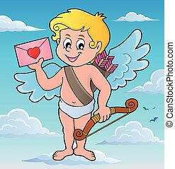 Cupid with envelope theme