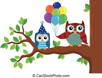 Party owls theme