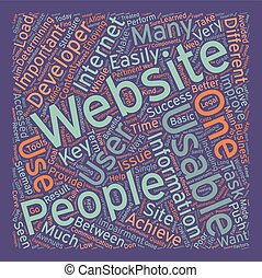 OGWU improve the usability of your web design text background wordcloud concept