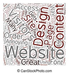 OGWU what annoys website users in terms of web design text background wordcloud concept