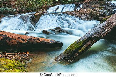 Naang Cruan waterfall of the Lam Khlong Ngu national park in...