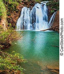 Naang Cruan waterfall Level 2 of the Lam Khlong Ngu national...