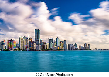 Miami Florida Skyline - Miami, Florida, USA skyline on...