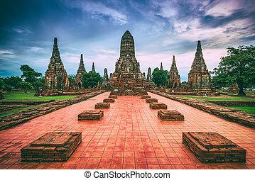 Ayutthaya Thailand - Ayutthaya, Thailand at Wat...