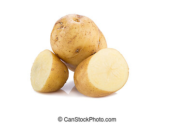 Potato isolated on white background. - Potato isolated on...
