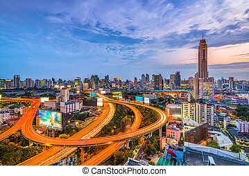 Bangkok Thailand Skyline - Bangkok, Thailand skyline from...