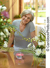 beautiful mature woman - Portrait of a beautiful mature...