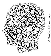 Online Mortgage text background wordcloud concept