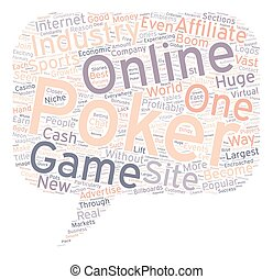 Online Poker Become A Poker Affiliate And Cash In On The Boom text background wordcloud concept