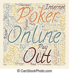 Online Poker FAQ text background wordcloud concept