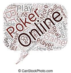 online poker games 1 text background wordcloud concept