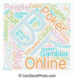 online poker rooms text background wordcloud concept