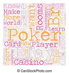 online poker rooms3 text background wordcloud concept