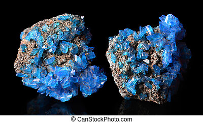 azul, Cristales,  covellite,  mineral