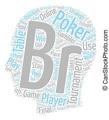 online poker tournament 1 text background wordcloud concept