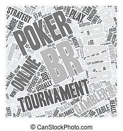 online poker tournament text background wordcloud concept