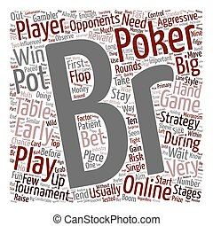 online poker tournaments text background wordcloud concept