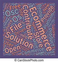 Os Commerce An Intro text background wordcloud concept