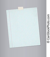 Blank squared paper from a notepad.