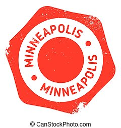 Minneapolis stamp rubber grunge - Minneapolis stamp. Grunge...