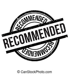 Recommended stamp rubber grunge - Recommended stamp. Grunge...