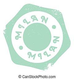 Milan stamp rubber grunge - Milan stamp. Grunge design with...
