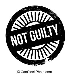 Not guilty stamp. Grunge design with dust scratches. Effects...