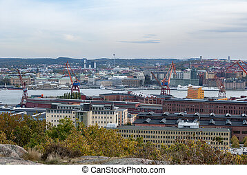 City of Gothenburg view from Ramberget