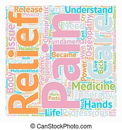 Pain Relief The Pain Pandemic text background wordcloud...