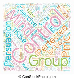 Perfected Mind Control text background wordcloud concept