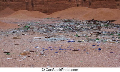 Debris in the Desert of Egypt
