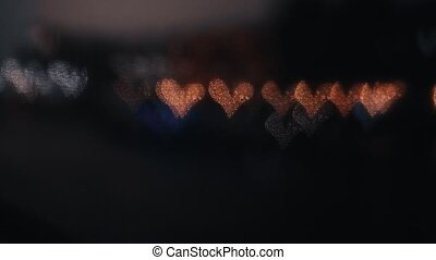 Defocused lights in the night 4K