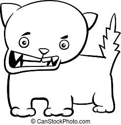 angry kitten coloring page