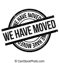 We have moved stamp