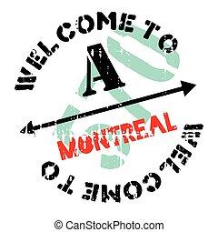 Montreal stamp rubber grunge - Montreal stamp. Grunge design...