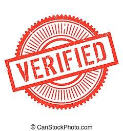 Verified stamp rubber grunge