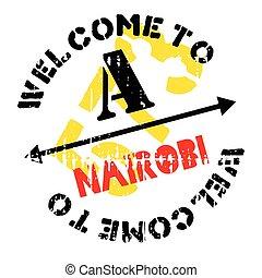 Nairobi stamp rubber grunge - Nairobi stamp. Grunge design...