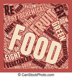 Phytochemicals For Your Immune Health text background wordcloud concept