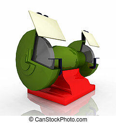 Grinding machine - Computer generated 3D illustration with a...