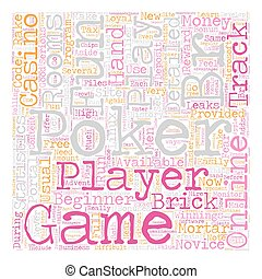 play for fun online poker text background wordcloud concept