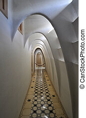 Interior of Casa Batllo, a building restored by Antoni...