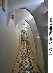 Interior of Casa Batllo, a building restored by Antoni...